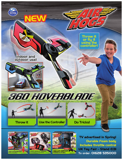 A trade advert for the 360 Hoverblade