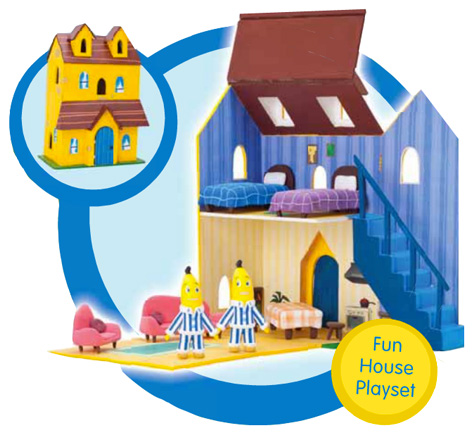 The Bananas in Pyjamas Fun House Playset