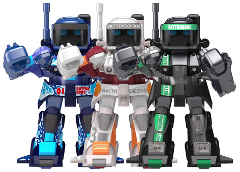 Different colour Battroborgs from Tomy