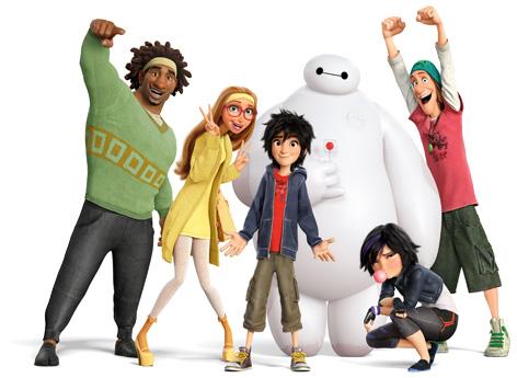 The main Big Hero 6 characters