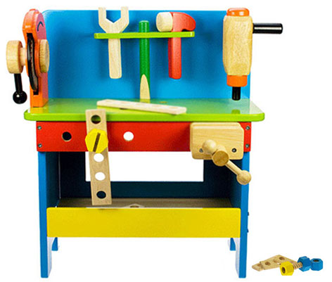 The Wooden Powertools Workbench from Bigjigs