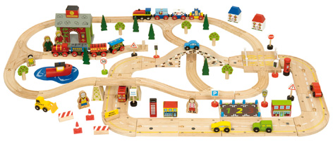 BigJigs Road and Rail Sets Working Together