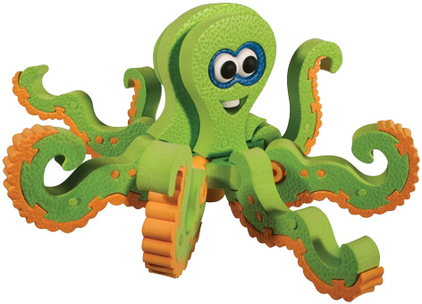 A Bloco Toy Octopus from their Marine Creatures Set