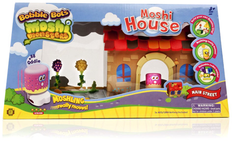 Bobble Bots Moshi Monsters House Packaging