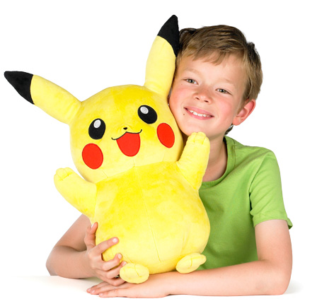 Boy with Pokemon plush
