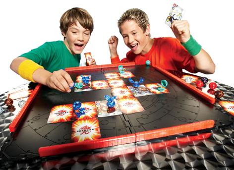 Boys playing Bakugan