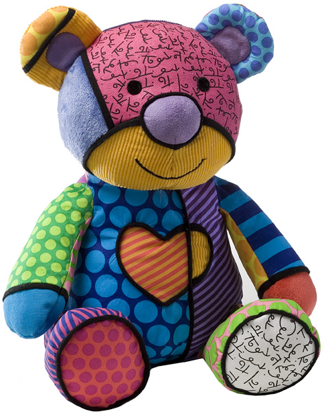 Britto Pop Plush Bear from Enesco Gifts