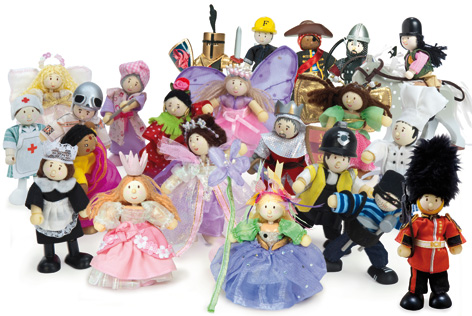 A crowd of Budkins Toy Figures