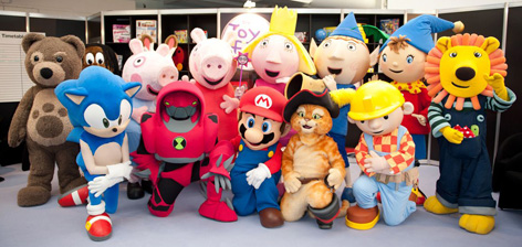 The characer photocall at the 2011 London Toy Fair