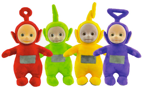 Character's Teletubbies plush range