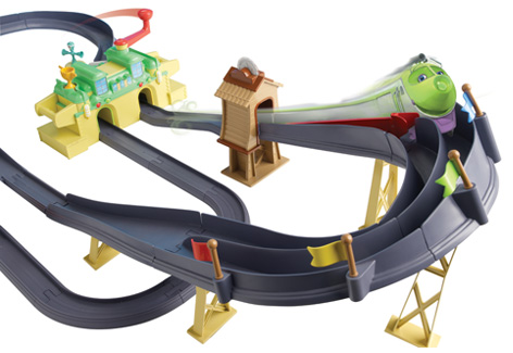 The Chuggington Die-Cast Chugger Championship Deluxe Rev & Race Playsets