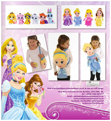 Trade advert for Posh Paws Cinderella toys