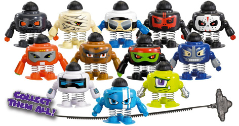The collectable Gyro-Botz figures