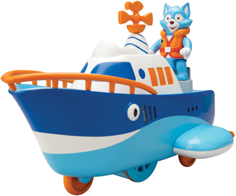 The Special Agent OSO Wolfie's Wind Up Boat