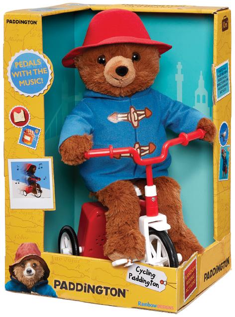 Cycling Paddington Bear toy