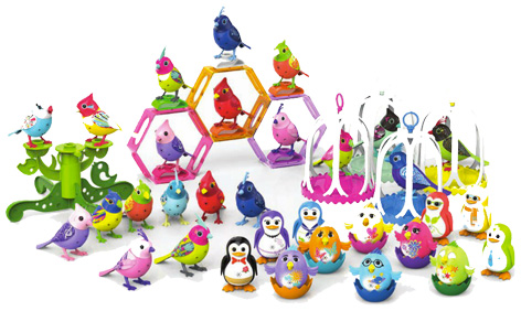 The full range of DigiBirds and DigiChicks