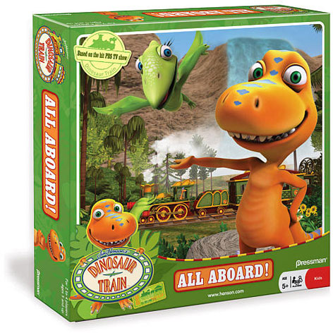 The All Aboard Board Game from Dinosaur Train