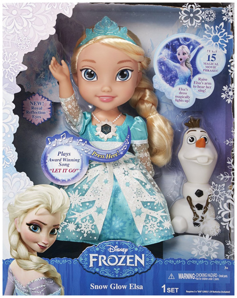 Snow Glow Elsa Packaging
