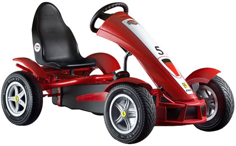 The Ferrari FXX Racers pedal Go-kart