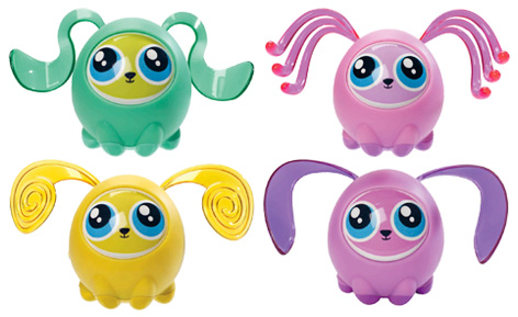 The various Fijit Friends Newbies - Green Zia, Pink Tia, Yellow Zinzi and Purple Tika