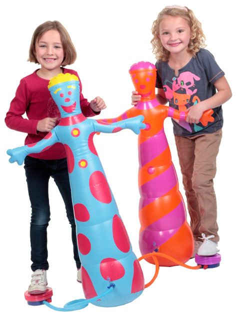 Girls playing with their Pumpaloons!