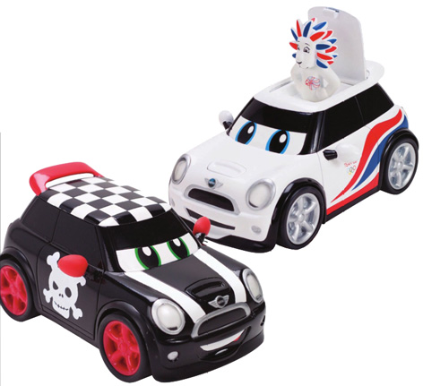 Two of the Go Mini toy cars