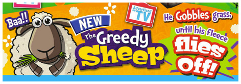 Trade advert for The Greedy Sheep