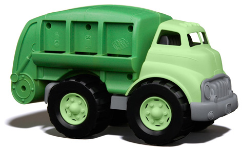 The Green Toys Recycling Truck from Bigjigs