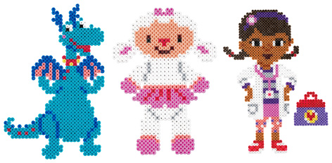 Assortment of Hama Bead characters