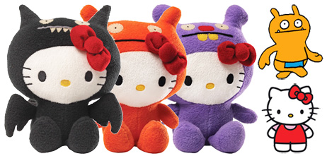 Trunko, Wage and Ice Bat alongside Uglydoll and Hello Kitty