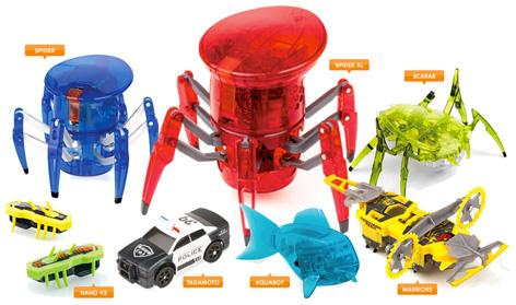 Hexbug's portfolio of toys