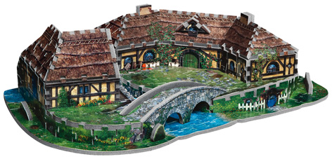 Wrebbit 3d Hobbiton Puzzle From Coiledspring Games