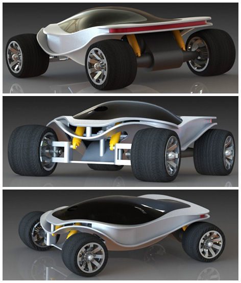 Front, side and back views of the Ikon RC Car