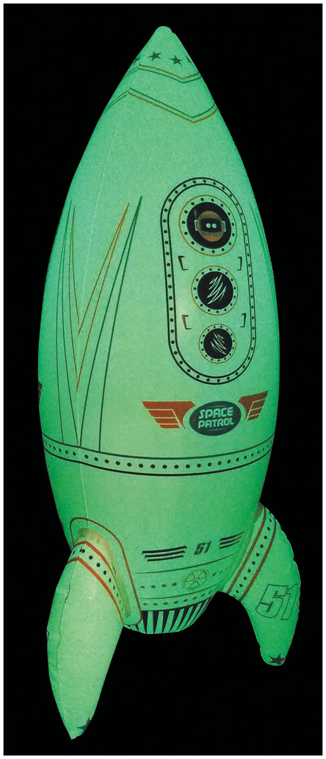 Inflatable Glow in the Dark Giant Rocket Ship