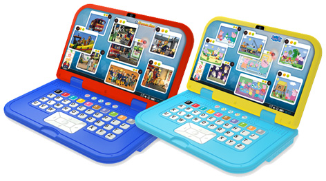 Fireman Sam and Peppa Pig laptops