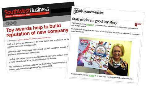 More local media coverage of the Independent Toy Awards