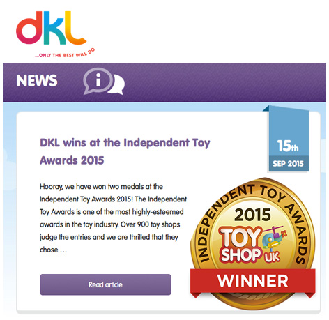 A lovely use of the gold medal on DKL's blog.