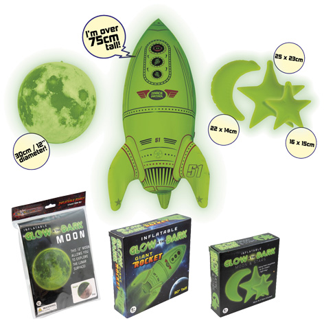 Glow In The Dark Inflatable Space Collection