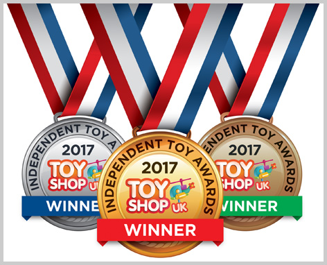 2017 Independent Toy Awards medal montage