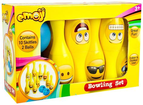 10 piece Emoji Bowling Set