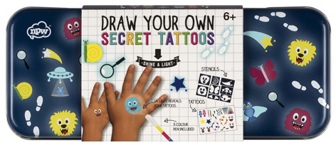 Sketch & Colour Draw Your Own Secret Tattoos