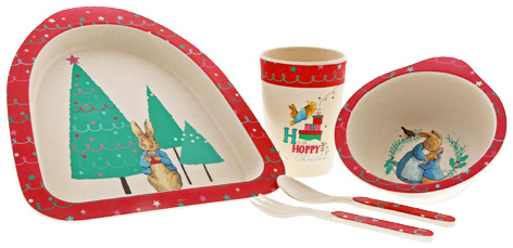 Peter Rabbit Organic Bamboo Christmas Set
