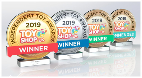 2019 Independent Toy Award Trophies