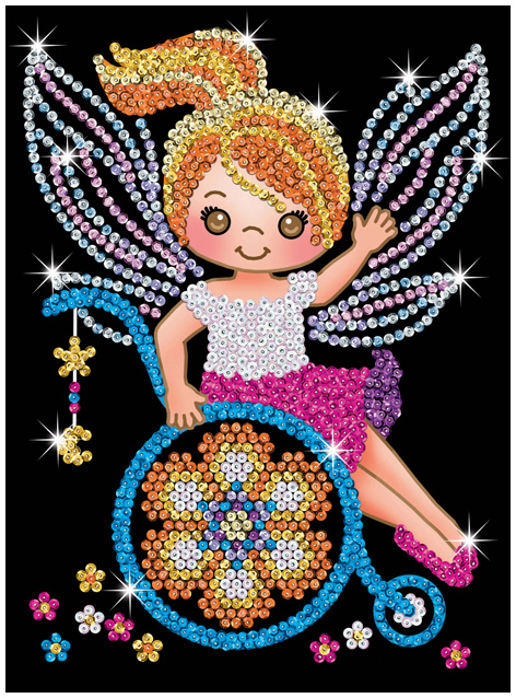Sequin Art Izzy Fairy