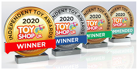 2020 Independent Toy Award Trophies