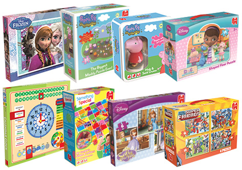 A selection of Jumbo's children's games.