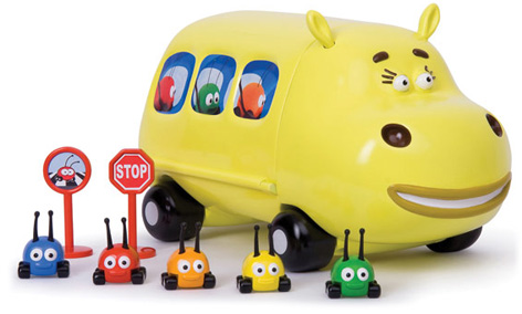 The Bright Yellow Junction Junction Hippobus Playset