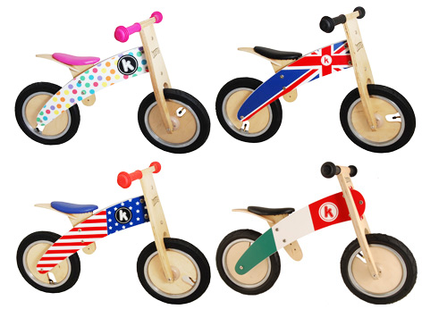 Some of Kiddimoto's Kurve Bikes