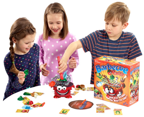 Kids playing the BBQ Party game