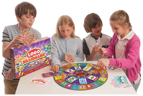 Kids playing Logo Billionaire